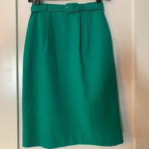 Vintage Laura Gayle Green Pencil Skirt